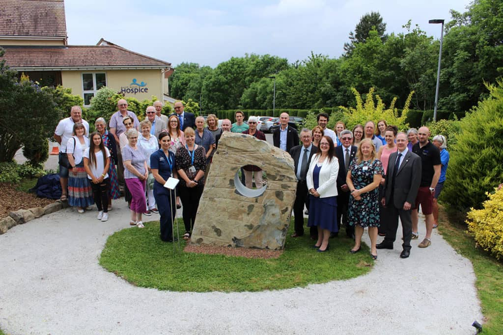 HOSPICE UNVEILS 'FOREVER STONE'